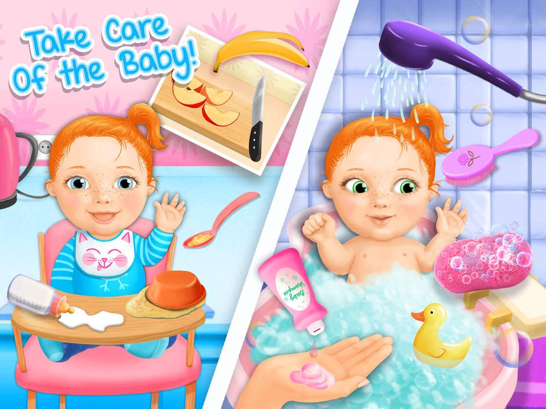 sweet baby girl newborn 2 game created with tutotoons