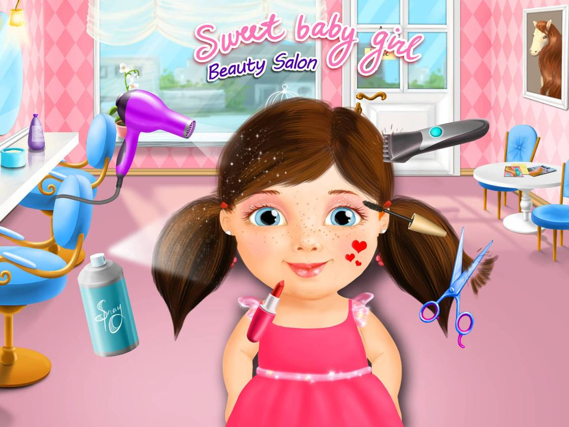 sweet baby girl - beauty salon - game created with tutotoons